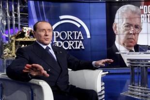 Silvio Berlusconi on television programme 'Porta a Porta'