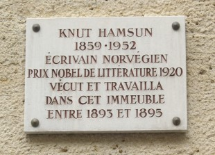 Plaque_Knut_Hamsun,_8_rue_de_Vaugirard,_Paris_6