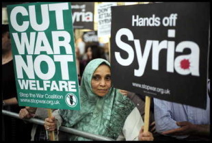 London Protesters Rally Against Syria War Proteste a Londra contro il possibile intervento militare in Siria