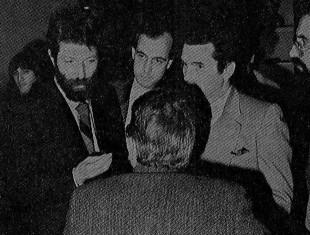 Da sinistra Massimo Cacciari Marco Tarchi e di spalle Giano Accame