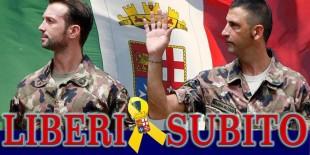 Libertà per i marò Latorre e Girone