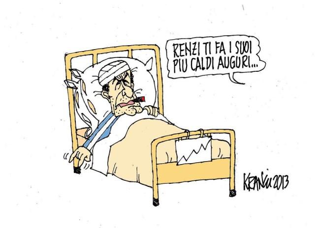 abbastanza La vignetta di Krancic. Le corna di Bersani dopo gli auguri di Renzi | LD91