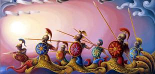 Quadro di Francesco Paolo delle Noci, raffigurante gli Argonauti