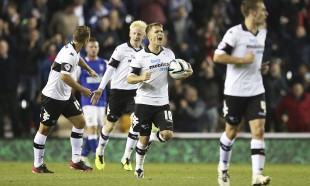 Derby County score against Ipswich