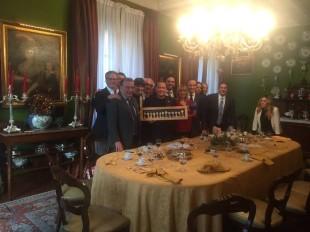 Cena di Natale dell'eurogruppo parlamentare di Forza Italia con Berlusconi