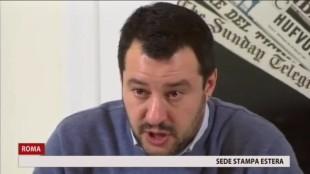 Matteo Salvini ad un incontro nella sede della stampa estera
