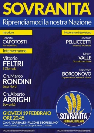 Convegno Sovranitu00E0 Milano 19 febbraio 2015