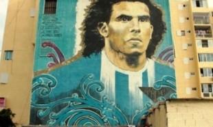 Un murales dedicato a Tevez