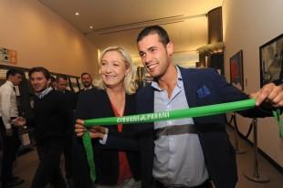 Marine Le Pen e il nuovo commissario dei Giovani Padani, Andrea Crippa