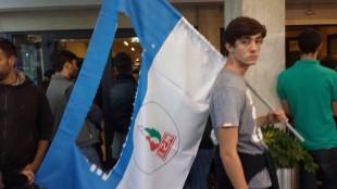 Fondazione An. Contestazione della destra radicale all'ingresso del Midas