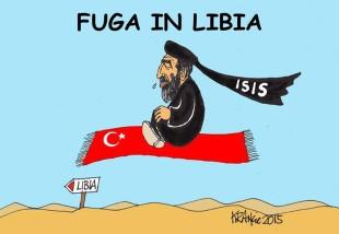 Il Califfo verso la Libia? La vignetta di Alfio Krancic