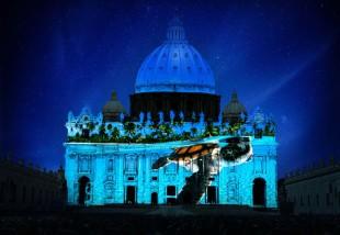 """Chiesa. Se la facciata di San Pietro diventa uno """"show"""" ambientalista"""
