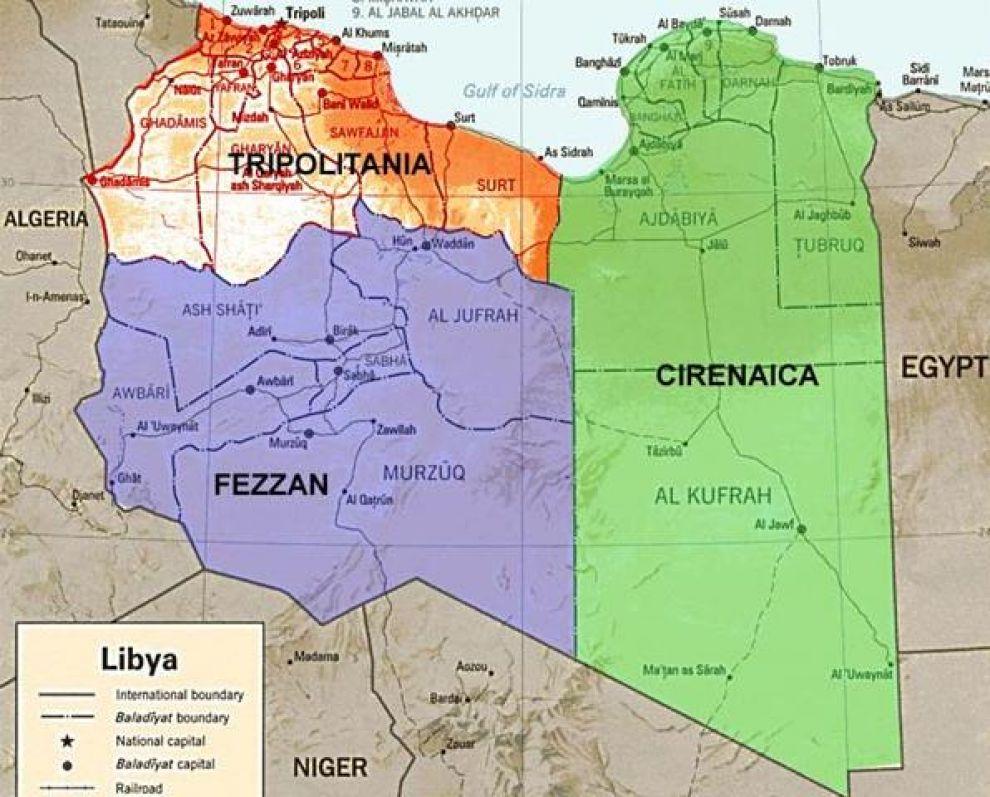 Risultati immagini per cartina libia attuale
