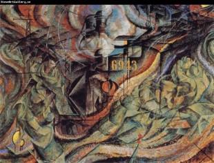 Un quadro di Umberto Boccioni in mostra