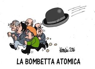 La vignetta di Krancic: Brexit, la bombetta atomica