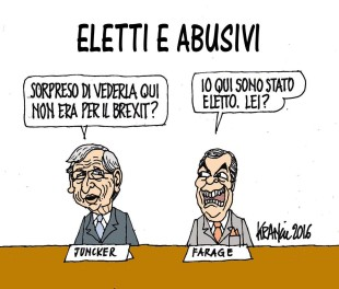 La vignetta di Krancic. Chi è l'abusivo all'Europarlamento?