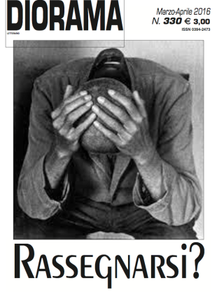 La copertina di Diorama Letterario numero 330