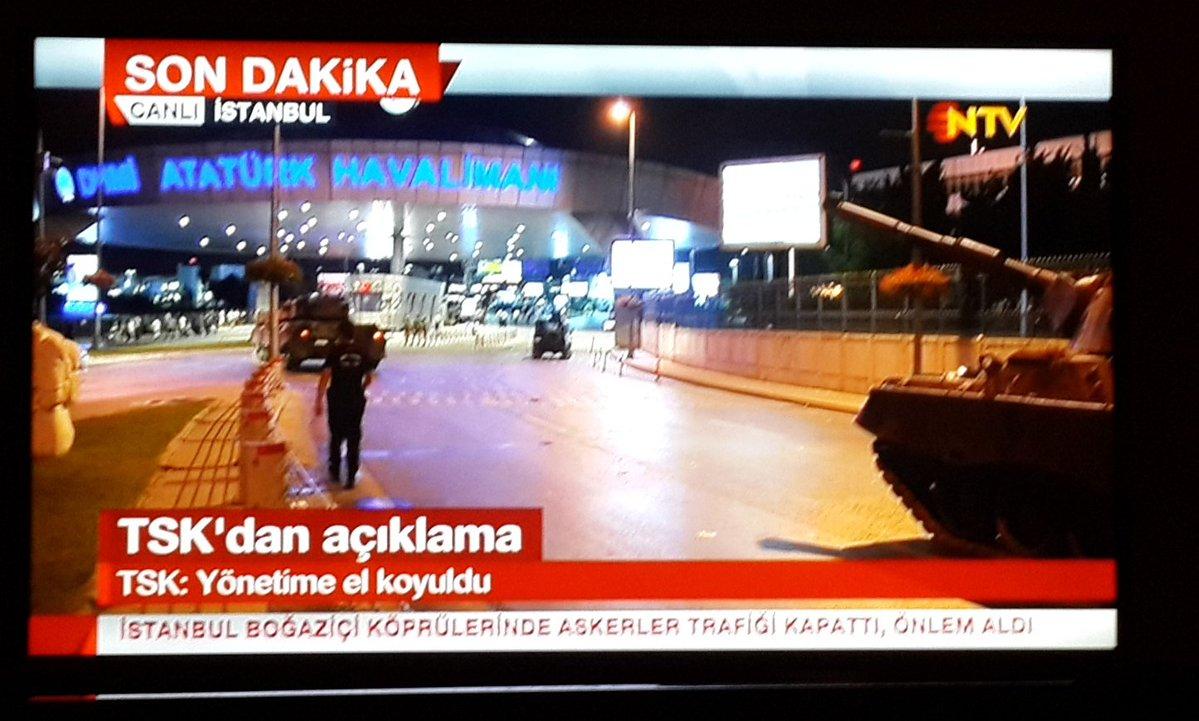 In Turchia colpo di stato dei militari