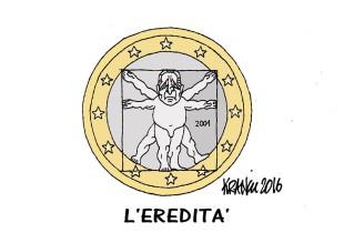 Il ritratto della Ciampi-moneta tracciato dalla matita di Krancic