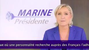 """Il caso. Marine Le Pen sceglie la rosa blu: """"Sarò il presidente della sovranità popolare"""""""
