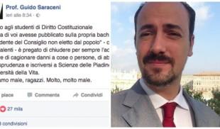Il caso. Il prof di Teramo pro Gentiloni sul web e il popolo che ha sfiduciato Renzi