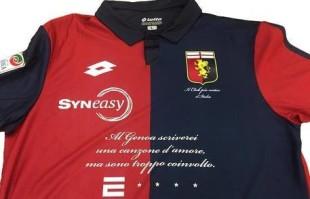 Calcio. Quando le strofe di De André sono lo sponsor del Genoa