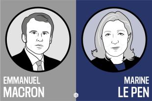 Macron e la Le Pen