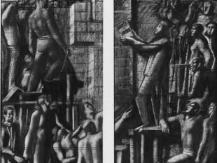 La Carta del Lavoro in un'opera di Sironi
