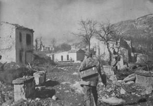 Castelnuovo bombardata nel 1944