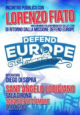 Eventi. Fiato (Generazione Identitaria) racconta la nave C-Star a Sant'Angelo Lodigiano