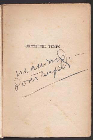 Collezione Garrera: autografo di Massimo Bontempelli