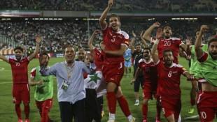 I calciatori della nazionale della Siria