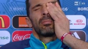 Le Lacrime d Buffon dopo l'eliminazione con la Svezia