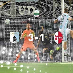 Serie B. L'Entella stoppa la corsa del Bari (3-1) che resta capolista