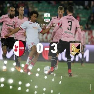 #SerieB. Il Palermo (neocapolista) espugna il San Nicola e dà una lezione al Bari (0-3)