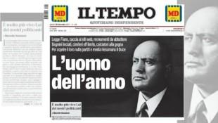 La prima pagina de Il Tempo, diretto da Gianmarco Chiocci