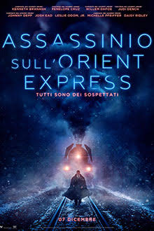 "Il manifesto di ""Assassinio sull'Orient Express"" di Kenneth Branagh"