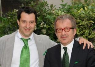Foto da l'Indipendenza nuova: Il giovane Salvini e Maroni