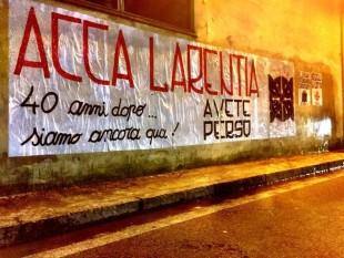 Azione studentesca ricorda i caduti fascisti di Acca Larentia