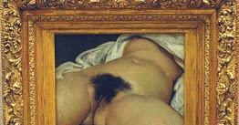 """Di questo quadro di Courbet, """"L'Origine del Mondo"""", s'è parlato a proposito dei braghettoni algoritmici di Facebook. Il censurato fu Vittorio Sgarbi che lanciò strali, accuse, montò una (sacrosanta) potenza. E arrivò ad annunciare la richiesta di risarcimento al signor Zuckemberg."""