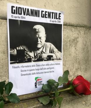 Il manifesto dei militanti di Casaggì Firenze per Giovanni Gentile