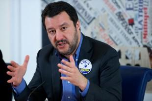 Matteo Salvini, durante un incontro presso la sede romana della Stampa Estera