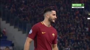 Champions. Negli occhi di Kostas Manolas che abbatte il Barça c'è il calcio