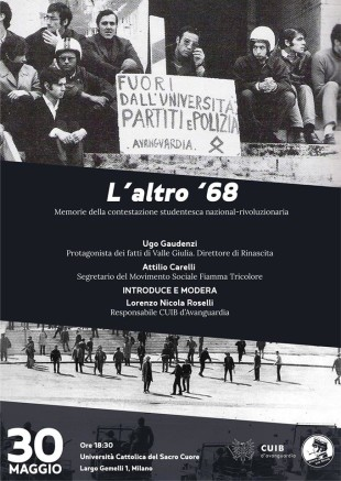 Milano. Rileggere il '68 nero alla Cattolica: oggi il convegno sulla rivoluzione impossibile