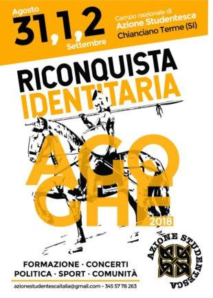 """L'evento. A Chianciano torna """"Agoghé"""", Azione Studentesca alla riconquista dell'identità"""