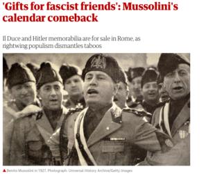 La schermata del Guardian sul Duce