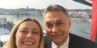 La Meloni e Orban