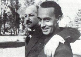 Filippo Tommaso Marinetti e Alberto Sartoris a Ginevra nel 1933