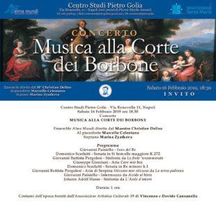 """Napoli. """"La Musica alla Corte dei Borbone"""", il concerto al Centro Studi Pietro Golia"""