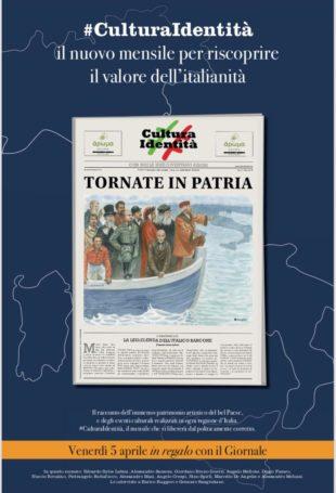 """Editoria. """"Italianizzare l'Europa"""", in uscita venerdì il terzo numero di #CulturaIdentità"""